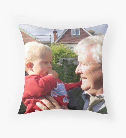 Grandad and Samuel Throw Pillow