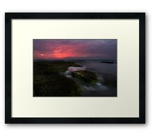 Mornington Peninsula - ocean sunset at Blairgowrie Framed Print