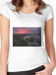 Mornington Peninsula - ocean sunset at Blairgowrie Women's Fitted Scoop T-Shirt