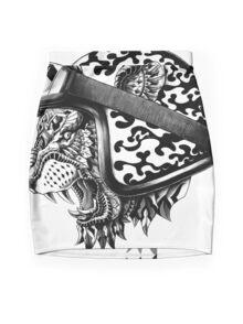Tiger Helm Mini Skirt