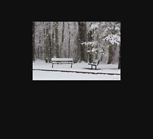 Snowy Benches Unisex T-Shirt