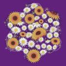 Sunflower Daisy Flower T-shirt by ruxique