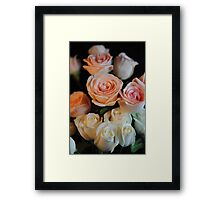Pink and White Roses Framed Print