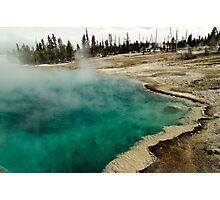 Black Pool - West Thumb Basin - Yellowstone National Park Photographic Print