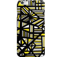Cathartic Abstract Art Yellow Black White iPhone Case/Skin