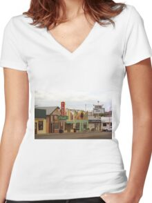 Route 66 - Kingman, Arizona Women's Fitted V-Neck T-Shirt