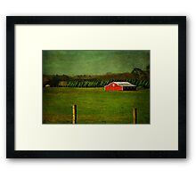 The Red Farmhouse Framed Print