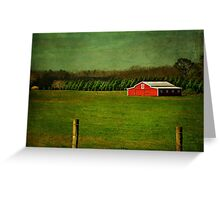 The Red Farmhouse Greeting Card