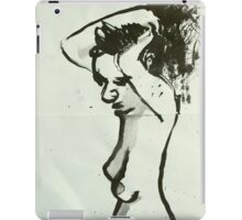 manu hair up black ink iPad Case/Skin