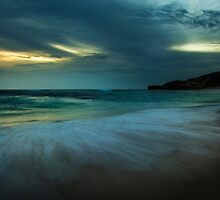Mornington Peninsula - Sorrento back beach sunset by Monica Cooke