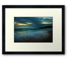 Mornington Peninsula - Sorrento back beach sunset Framed Print