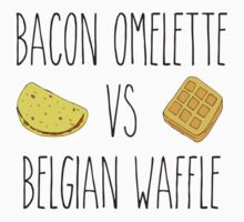 Life is Strange - Bacon Omelette VS Belgian Waffle Kids Clothes