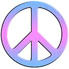Gender Peace Sign (Blue, Pink, Purple) by 321Outright