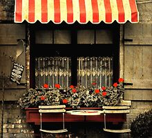 Sidewalk Cafe by Barbara  Brown