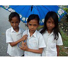 Umbrella and girls by Margarida Martins Photographic Print