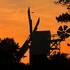 Sunset Windmill Silhouette by Martin Griffett