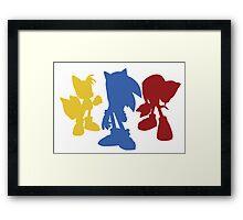 Sonic Team Framed Print