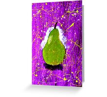 Pear on Purple. Greeting Card