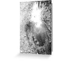 puddle Mirror Greeting Card
