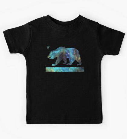 California Bear Flag (deep galaxy design) Kids Tee
