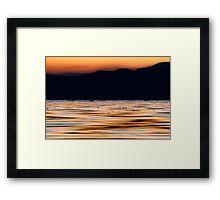 Lake Lines Framed Print
