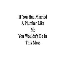 If You Had Married A Plumber Like Me You Wouldn't Be In This Mess  by supernova23