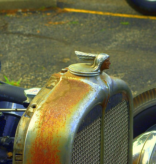 "1930 Pontiac Rat Rod Radiator Cap. ""The Pontiac Chief"", by TeeMack"