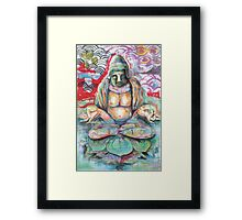 Submerged Buddha Framed Print