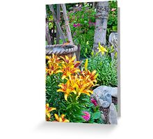 Lily Garden Scene Greeting Card