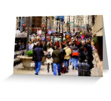 Impressions of Michigan Avenue Greeting Card