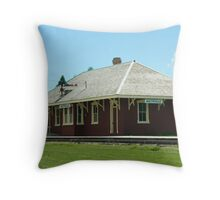Aultsville Train Station, Upper Canada, Ontario Throw Pillow