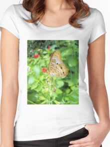 Butterfly 1 Women's Fitted Scoop T-Shirt