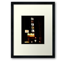 New West Motel Framed Print