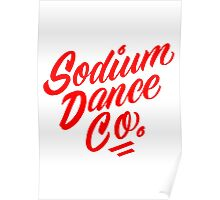 Sodium Dance Co. Script Logo - Red Lettering Poster