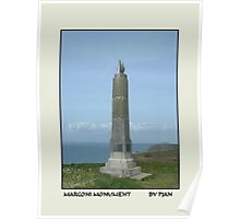 MARCONI MONUMENT POLDU MULLION CORNWALL Poster