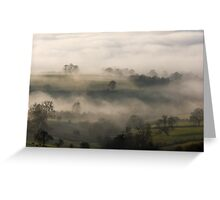 Fog in the Vale of York Greeting Card