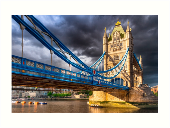 Landmark On The Thames - London Tower Bridge by Mark Tisdale
