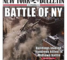 'Battle of New York' Newspaper cover  by LondonBound