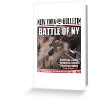 'Battle of New York' Newspaper cover  Greeting Card