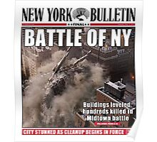 'Battle of New York' Newspaper cover  Poster