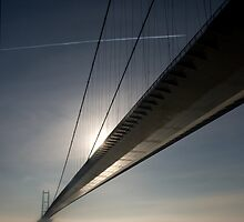 Humber Bridge in the mist by Jon Tait