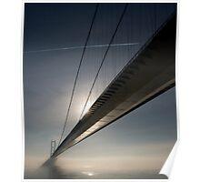 Humber Bridge in the mist Poster