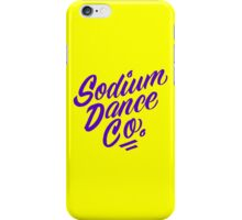 Sodium Dance Co. Script Logo - Purple Lettering iPhone Case/Skin