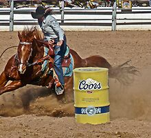 Barrel Racer by Linda Gregory