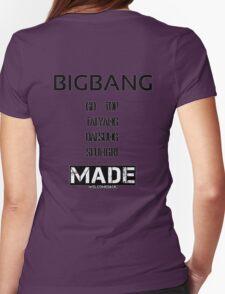 BIGBANG 'MADE' FANMADE Womens Fitted T-Shirt