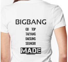 BIGBANG 'MADE' FANMADE Womens Fitted T-Shirt