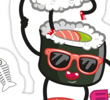 Surfin' sushi Sticker