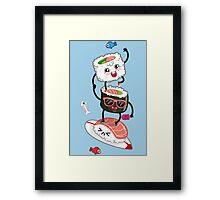 Surfin' sushi Framed Print