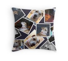 faces of jerzy Throw Pillow