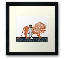 Pet Lion Framed Print